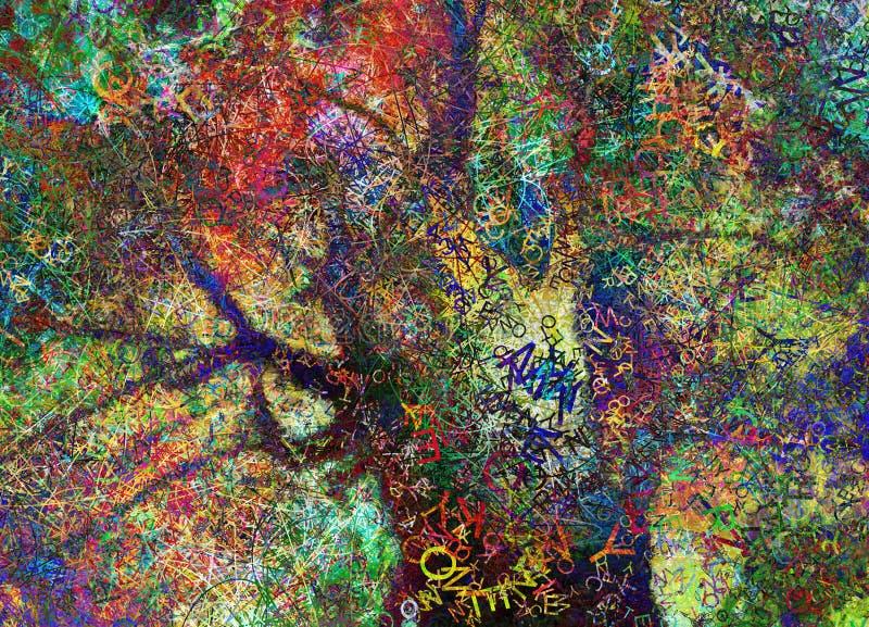 Ζωηρόχρωμο αφηρημένο δέντρο απεικόνιση αποθεμάτων