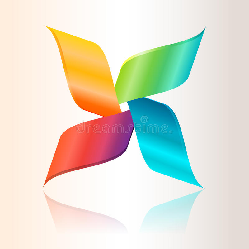Ζωηρόχρωμο αφηρημένο λογότυπο απεικόνιση αποθεμάτων