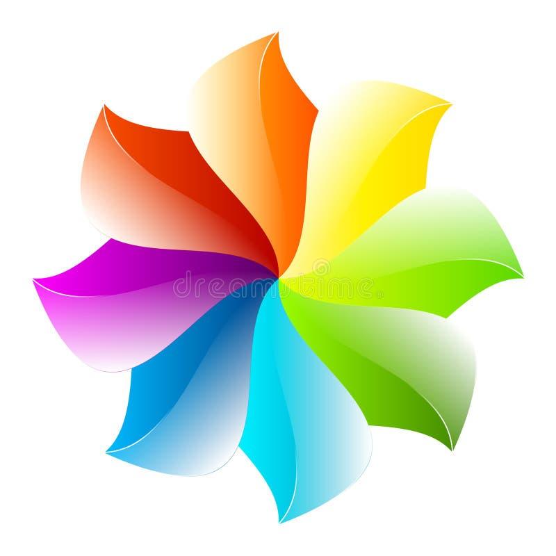 Ζωηρόχρωμο αφηρημένο σχέδιο λουλουδιών διανυσματική απεικόνιση