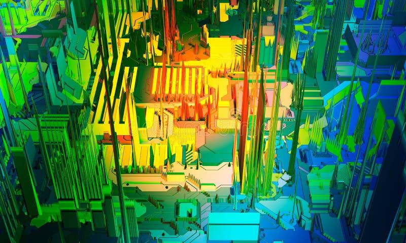 Ζωηρόχρωμο αφηρημένο υπόβαθρο πινάκων κυκλωμάτων υψηλής τεχνολογίας ηλεκτρονικό τυπωμένο PCB r ελεύθερη απεικόνιση δικαιώματος