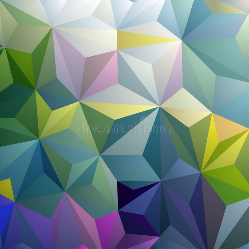 Ζωηρόχρωμο αφηρημένο υπόβαθρο τριγώνων διανυσματική απεικόνιση