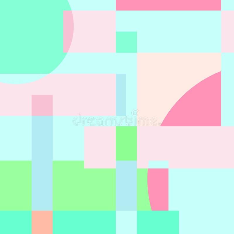Ζωηρόχρωμο αφηρημένο υπόβαθρο χρώματος κρητιδογραφιών διανυσματική απεικόνιση