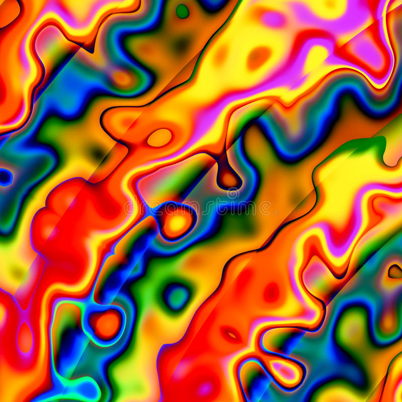 Ζωηρόχρωμο αφηρημένο χαοτικό υπόβαθρο Κόκκινη μπλε κίτρινη δημιουργική απεικόνιση τέχνης σχέδιο μοναδικό Ανώμαλες μορφές Grunge κ απεικόνιση αποθεμάτων