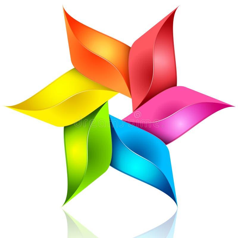 Ζωηρόχρωμο αφηρημένο floral σημάδι ελεύθερη απεικόνιση δικαιώματος