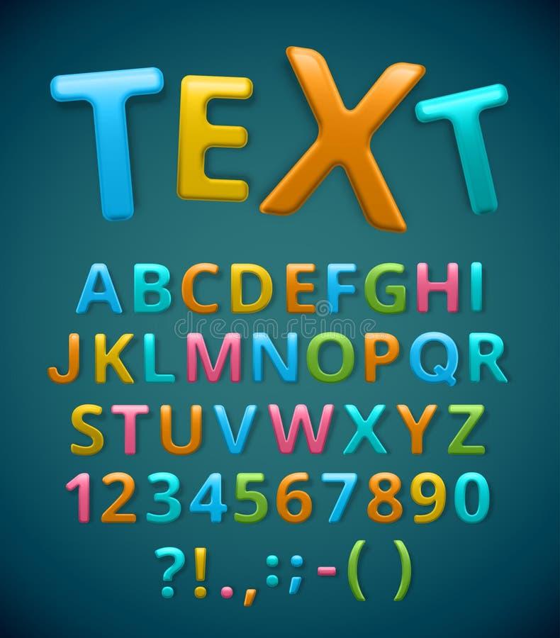 Ζωηρόχρωμο αλφάβητο ελεύθερη απεικόνιση δικαιώματος