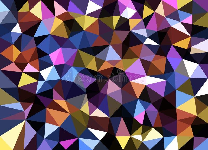 Ζωηρόχρωμο γεωμετρικό αφηρημένο υπόβαθρο σύστασης ελεύθερη απεικόνιση δικαιώματος