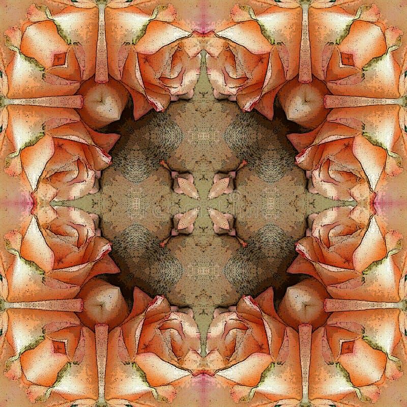 Ζωηρόχρωμο γεωμετρικό floral υπόβαθρο για το μπατίκ, την τυπωμένη ύλη ταπήτων ή την κάρτα διανυσματική απεικόνιση