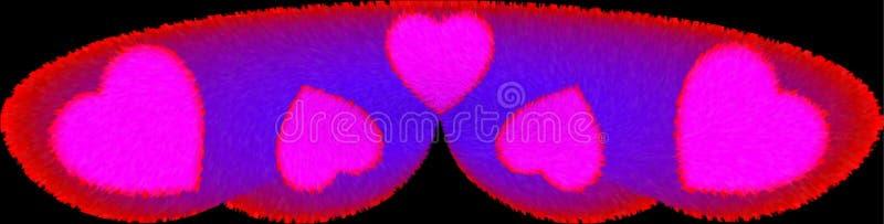 Ζωηρόχρωμο γούνινο και αναμμένο μήνα του μέλιτος σχέδιο εικόνας απεικόνισης μαξιλαριών παραγμένο υπολογιστής ελεύθερη απεικόνιση δικαιώματος