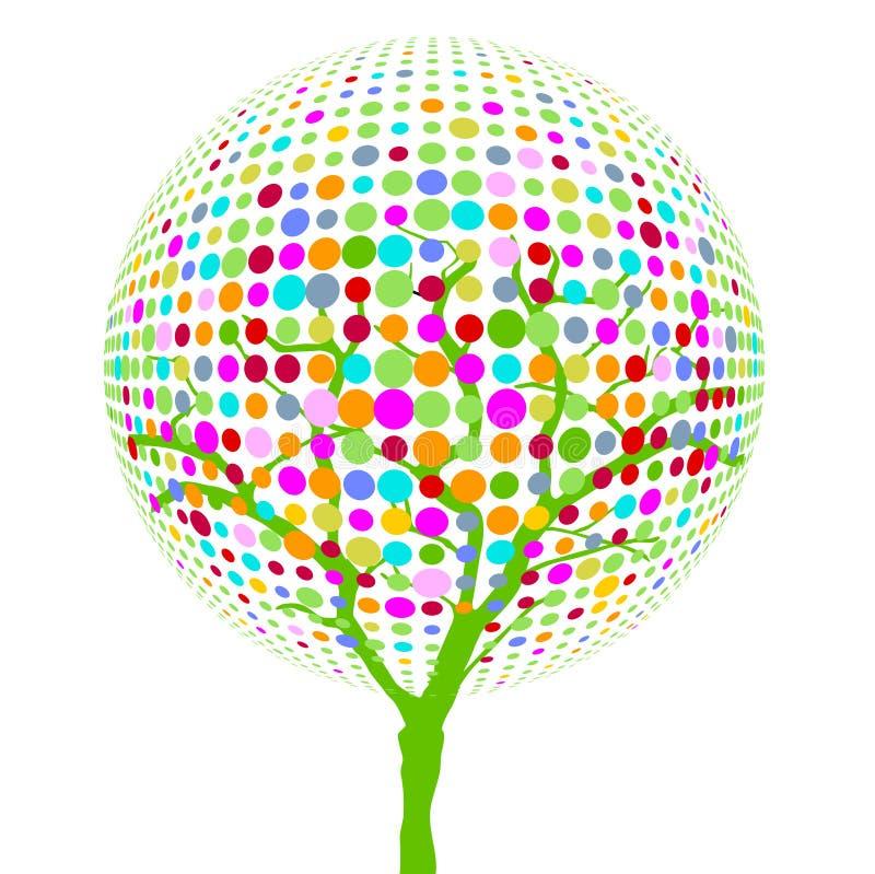 ζωηρόχρωμο δέντρο σημείων απεικόνιση αποθεμάτων