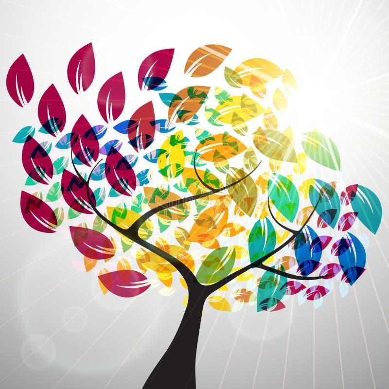 ζωηρόχρωμο δέντρο απεικόνιση αποθεμάτων