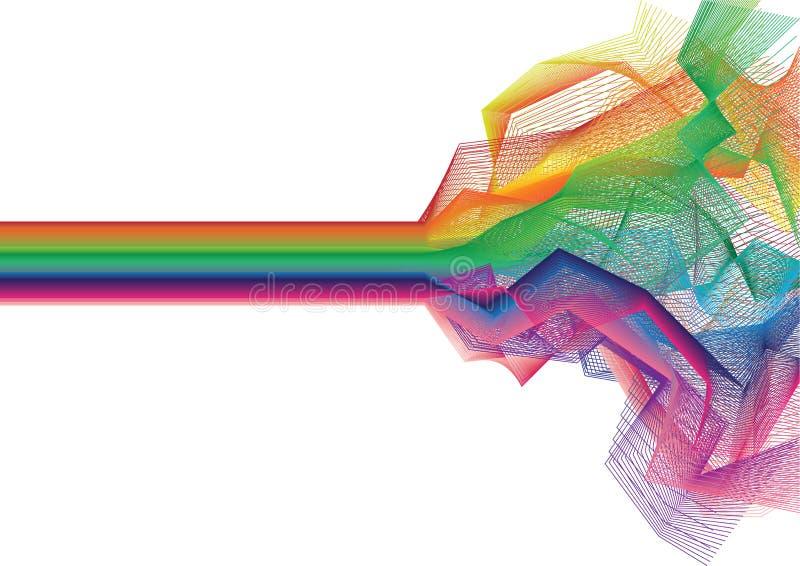 ζωηρόχρωμο διάνυσμα λωρίδ& διανυσματική απεικόνιση