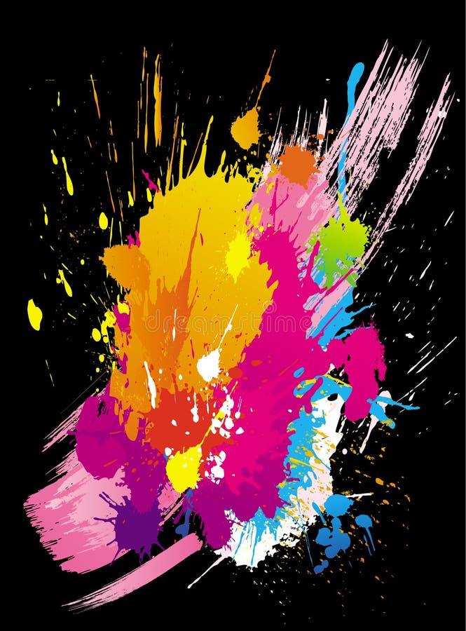 ζωηρόχρωμο διάνυσμα grunge ανα&sig διανυσματική απεικόνιση