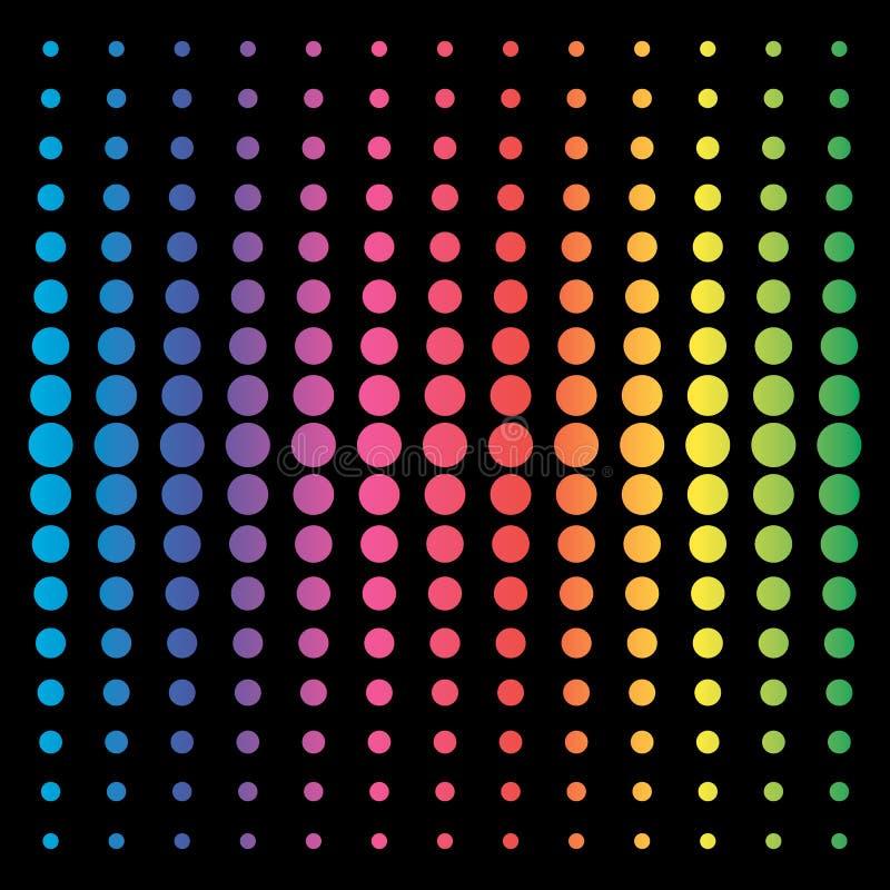 Ζωηρόχρωμο διανυσματικό υπόβαθρο κύκλων Αφηρημένο υπόβαθρο χρωμάτων ουράνιων τόξων για το σχέδιο Ιστού Ζωηρόχρωμη κλίση φάσματος απεικόνιση αποθεμάτων