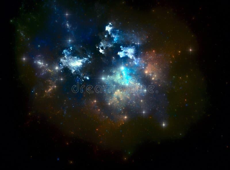 ζωηρόχρωμο διαστημικό αστέρι νεφελώματος ελεύθερη απεικόνιση δικαιώματος