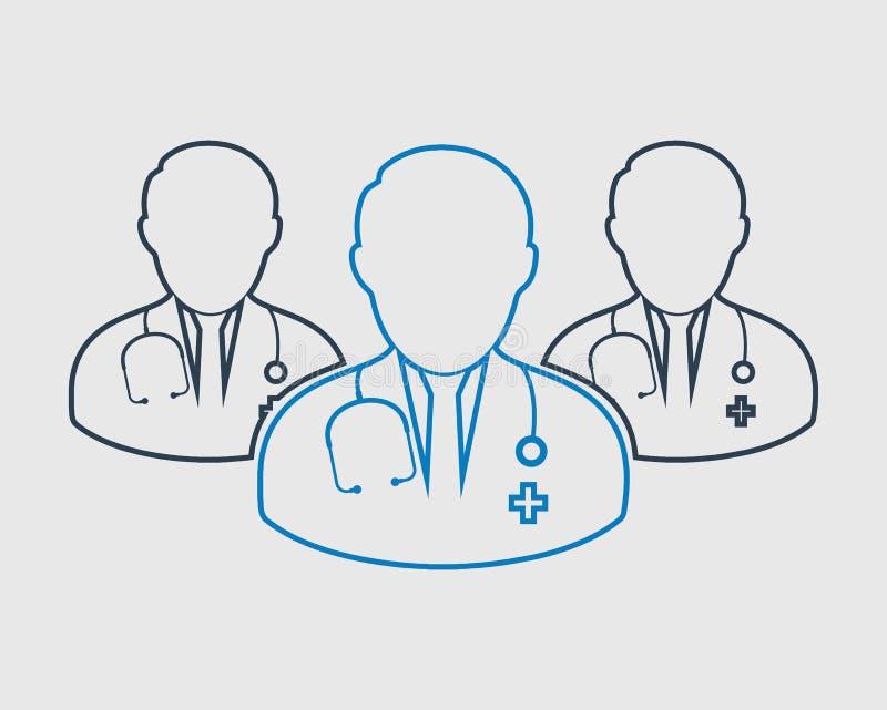 Ζωηρόχρωμο εικονίδιο ομάδας γιατρών ελεύθερη απεικόνιση δικαιώματος