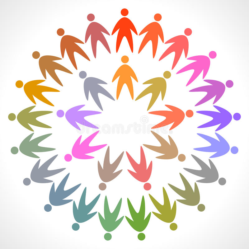 ζωηρόχρωμο εικονόγραμμα ανθρώπων κύκλων ελεύθερη απεικόνιση δικαιώματος