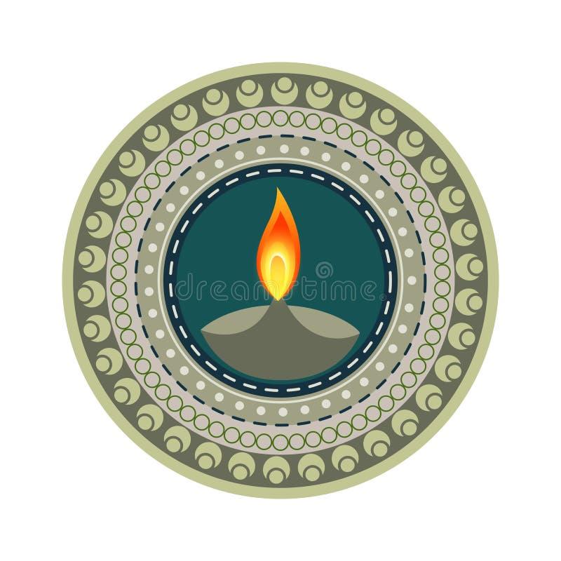 Ζωηρόχρωμο ευτυχές diwali διανυσματική απεικόνιση