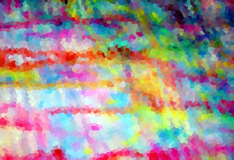 Ζωηρόχρωμο εύθυμο χρυσό ιώδες υπόβαθρο μορφών και μορφών αντίθεσης στα χρώματα κρητιδογραφιών διανυσματική απεικόνιση