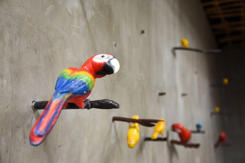 Ζωηρόχρωμο ζεύγος macaws στοκ φωτογραφίες