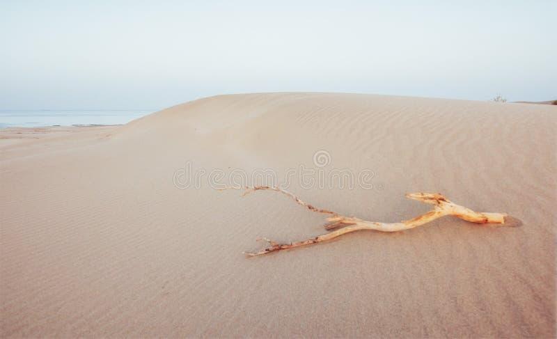 Ζωηρόχρωμο ηλιοβασίλεμα πέρα από τη μυστήρια έρημο στην Τουρκία στοκ εικόνες
