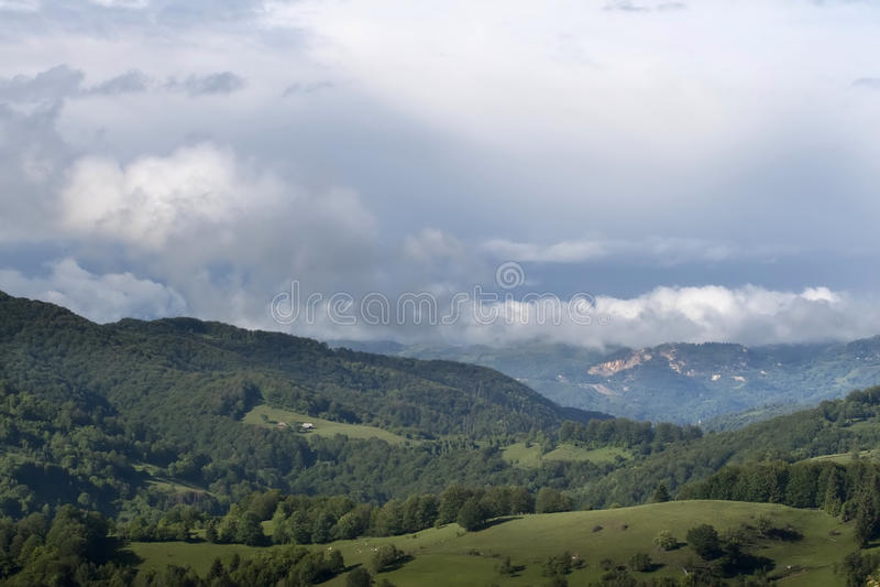 Ζωηρόχρωμο θερινό τοπίο στοκ φωτογραφίες με δικαίωμα ελεύθερης χρήσης