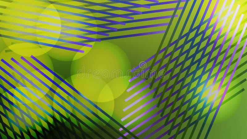 Ζωηρόχρωμο θολωμένο υπόβαθρο με τους κύκλους, φω'τα, γραμμές Σύγχρονη αφηρημένη κάρτα κλίσης ελεύθερη απεικόνιση δικαιώματος
