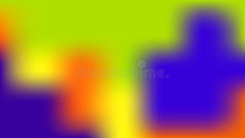 Ζωηρόχρωμο θολωμένο υπόβαθρο Σύγχρονη αφηρημένη κάρτα κλίσης απεικόνιση αποθεμάτων