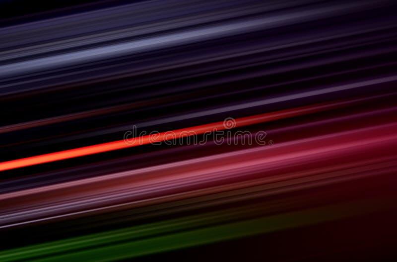 Ζωηρόχρωμο θολωμένο γραμμές σχέδιο στο Μαύρο διανυσματική απεικόνιση