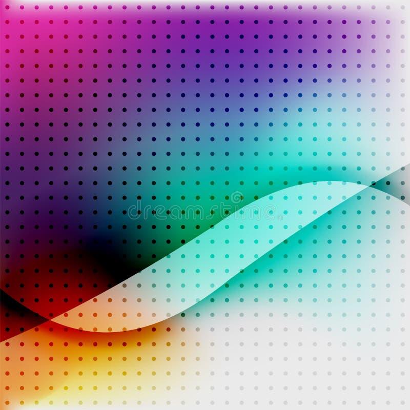 Ζωηρόχρωμο θολωμένο επιχειρησιακό υπόβαθρο κυμάτων διανυσματική απεικόνιση