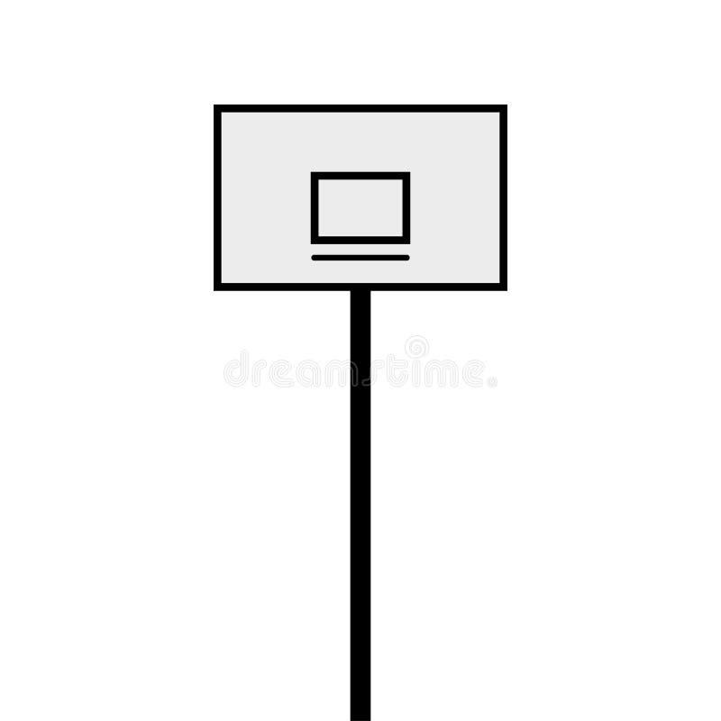 ζωηρόχρωμο διάνυσμα απεικόνισης καλαθοσφαίρισης ραχών στοκ φωτογραφία