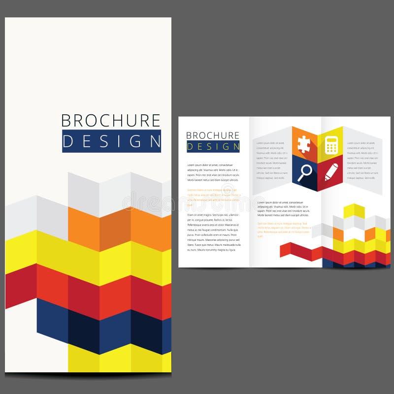 Ζωηρόχρωμο διανυσματικό σχέδιο σχεδιαγράμματος φυλλάδιων απεικόνιση αποθεμάτων