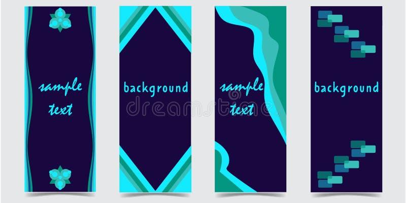 Ζωηρόχρωμο και σύγχρονο σχέδιο κάλυψης στο σκούρο μπλε υπόβαθρο διανυσματική απεικόνιση