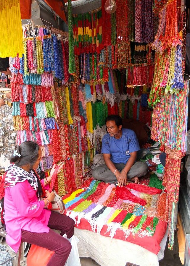 Ζωηρόχρωμο κατάστημα, Κατμαντού, Νεπάλ στοκ εικόνες με δικαίωμα ελεύθερης χρήσης