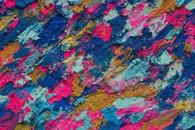 Ζωηρόχρωμο κατασκευασμένο υπόβαθρο χρωμάτων, μπλε ρόδινη και χρυσή τέχνη στοκ εικόνα με δικαίωμα ελεύθερης χρήσης