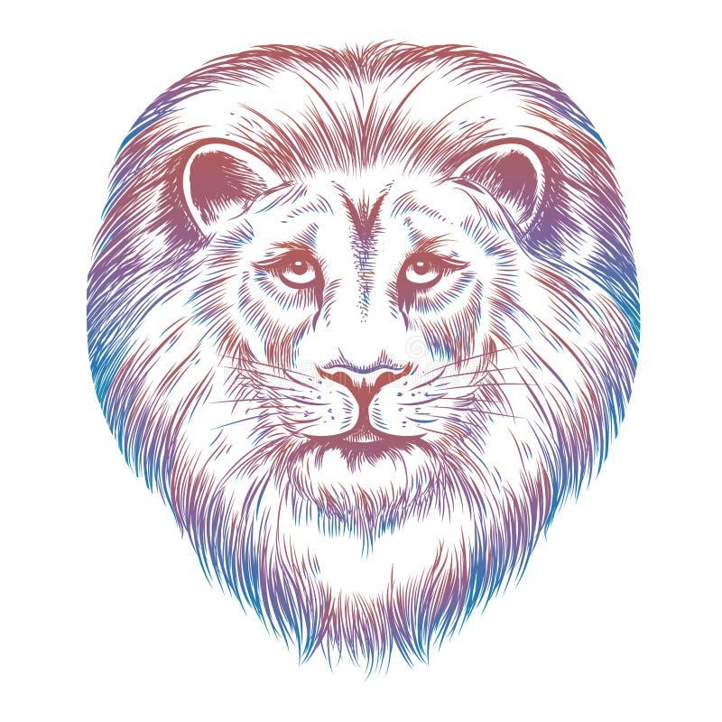 Ζωηρόχρωμο κεφάλι λιονταριών ελεύθερη απεικόνιση δικαιώματος