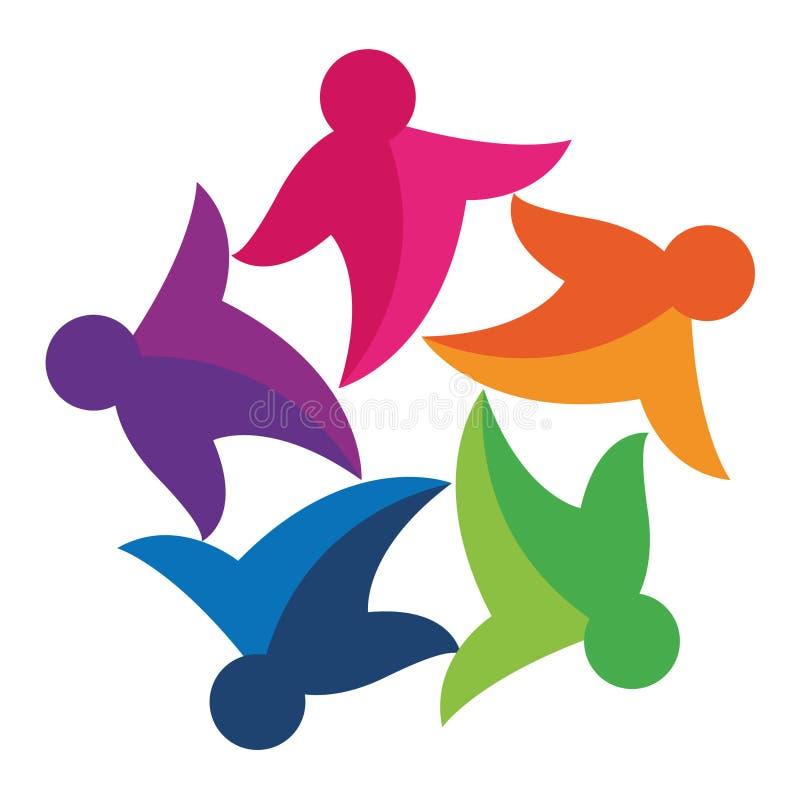 ζωηρόχρωμο κοινοτικό λογότυπο διανυσματική απεικόνιση