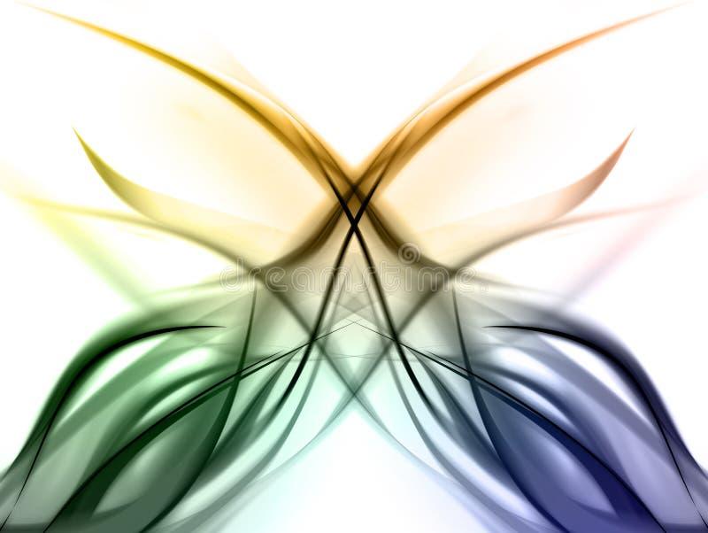 ζωηρόχρωμο κομψό ουράνιο &tau διανυσματική απεικόνιση