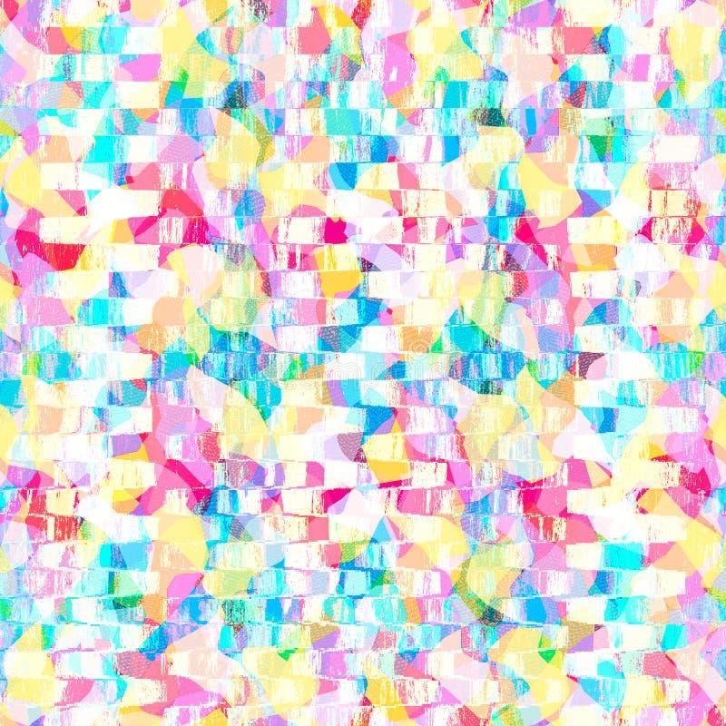 Ζωηρόχρωμο κρητιδογραφιών χρώματος υπόβαθρο σχεδίου ταπετσαριών σχεδίων αφηρημένο διανυσματική απεικόνιση