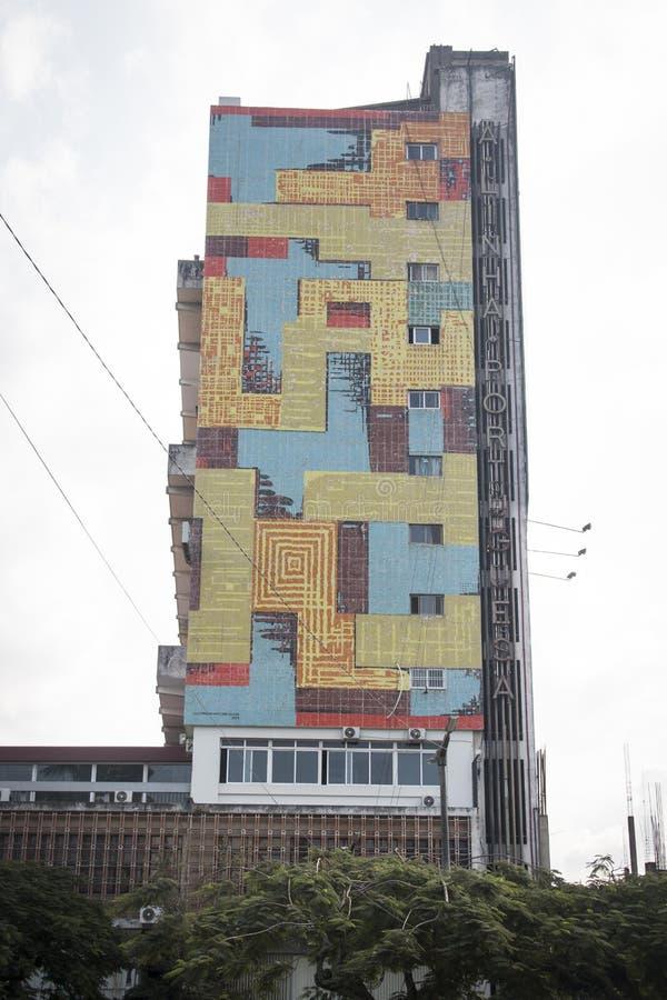 Ζωηρόχρωμο κτήριο στο Μαπούτο, Μοζαμβίκη στοκ φωτογραφία με δικαίωμα ελεύθερης χρήσης