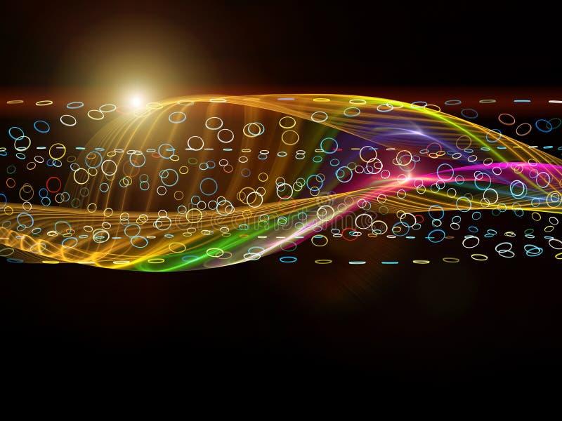 ζωηρόχρωμο κύμα ημιτόνου πρ&o διανυσματική απεικόνιση