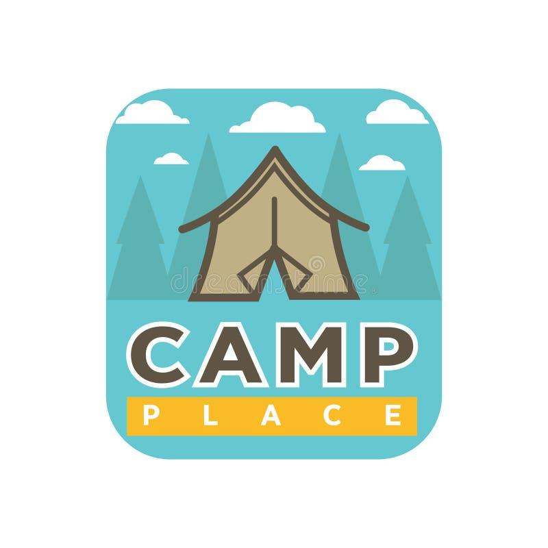 Ζωηρόχρωμο λογότυπο στρατόπεδων ελεύθερη απεικόνιση δικαιώματος