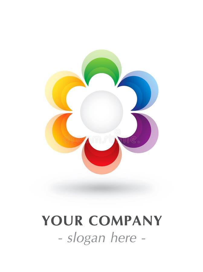 ζωηρόχρωμο λογότυπο σχε& διανυσματική απεικόνιση