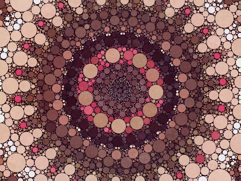 Ζωηρόχρωμο μαγικό πολύχρωμο mehendi σχεδίου καλειδοσκόπιων απεικόνιση αποθεμάτων