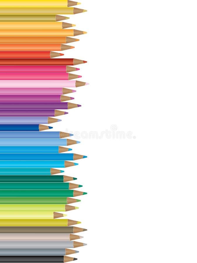 ζωηρόχρωμο μολύβι απεικόν&i διανυσματική απεικόνιση