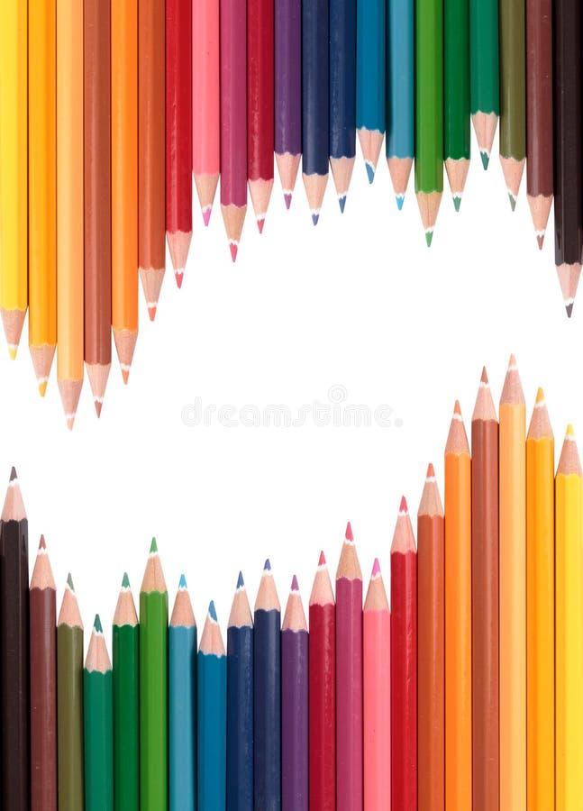 ζωηρόχρωμο μολύβι κρητιδ&omic στοκ φωτογραφία με δικαίωμα ελεύθερης χρήσης
