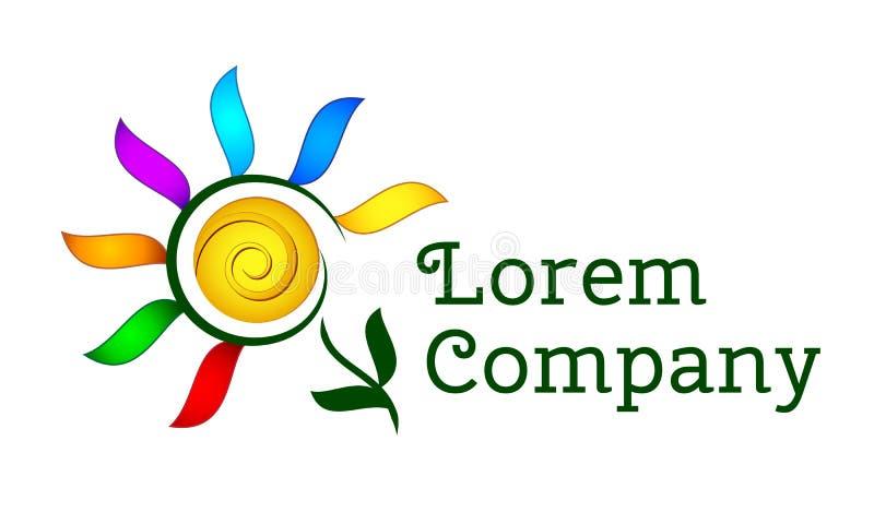 Ζωηρόχρωμο λογότυπο λουλουδιών διανυσματική απεικόνιση