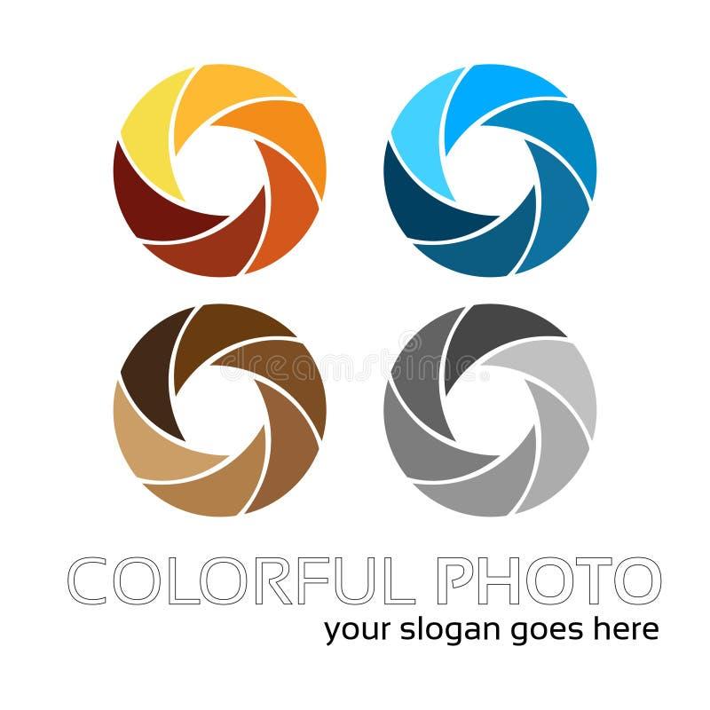 Ζωηρόχρωμο λογότυπο φωτογραφιών απεικόνιση αποθεμάτων