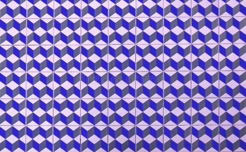 Ζωηρόχρωμο πάτωμα των αναδρομικών κεραμιδιών διανυσματική απεικόνιση