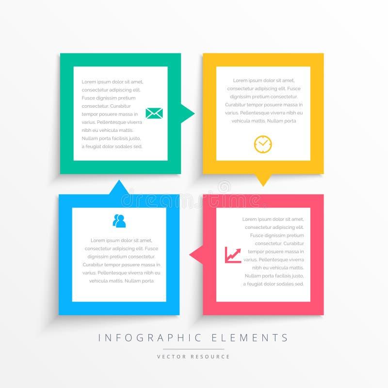 Ζωηρόχρωμο πλαίσιο βημάτων επιχειρησιακού infographics ελεύθερη απεικόνιση δικαιώματος