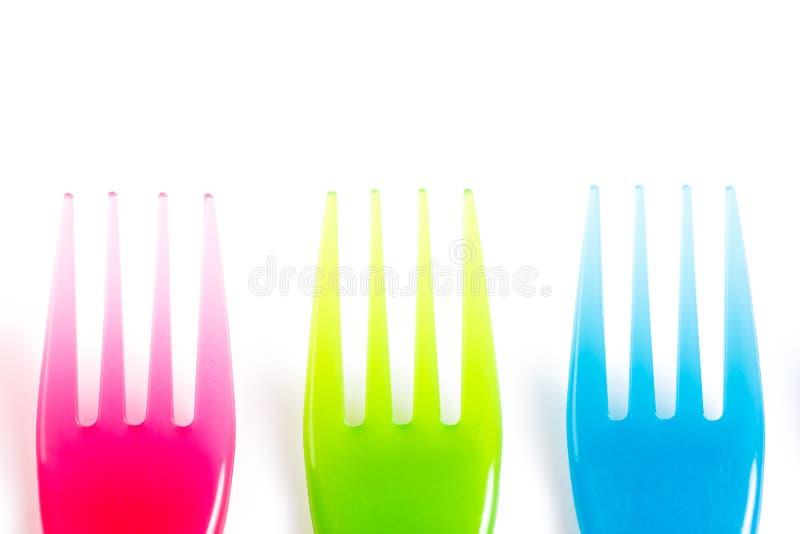ζωηρόχρωμο πλαστικό μαχαι στοκ φωτογραφία με δικαίωμα ελεύθερης χρήσης